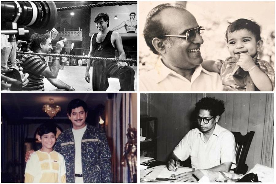 India film stars with their fathers