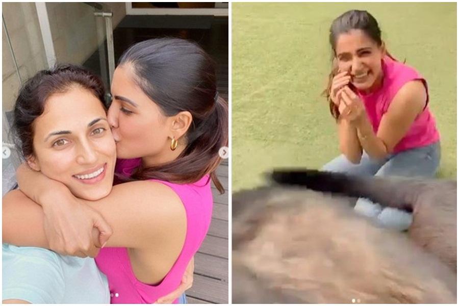 Samantha Akkineni kissing Shilpa Reddy