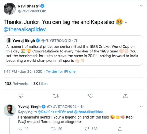 Tweet Ravi Shastri