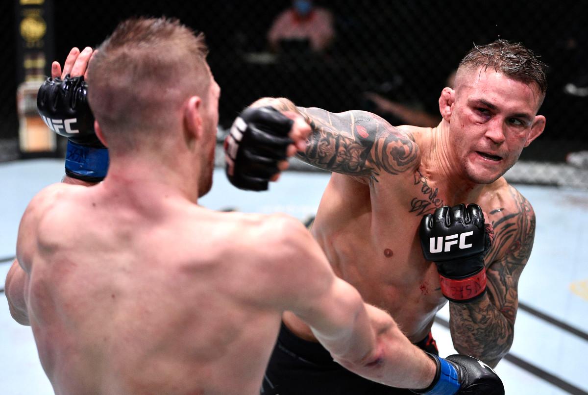Dustin Poirier selamat dari putaran kedua brutal untuk memenangkan slugfest UFC