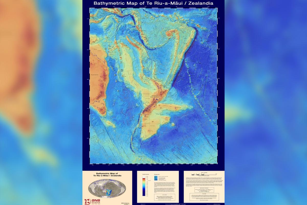 Hilangnya benua Selandia Baru terungkap dalam peta baru yang terperinci