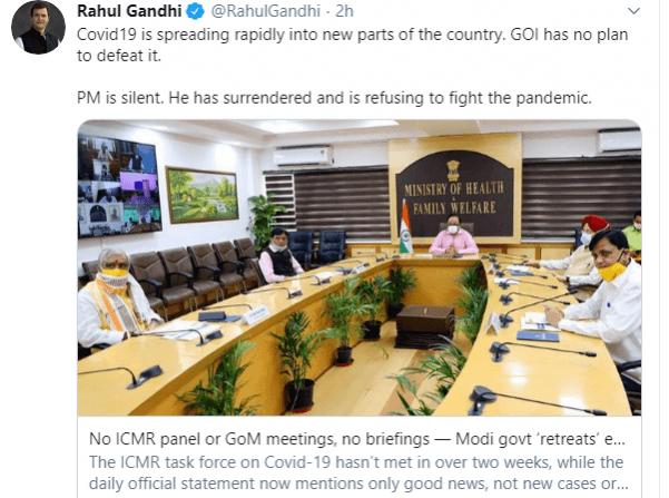 Tweet Rahul Gandhi