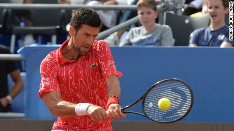 Djokovic mendapat balasan saat Tur Adria di Zadar, Kroasia.