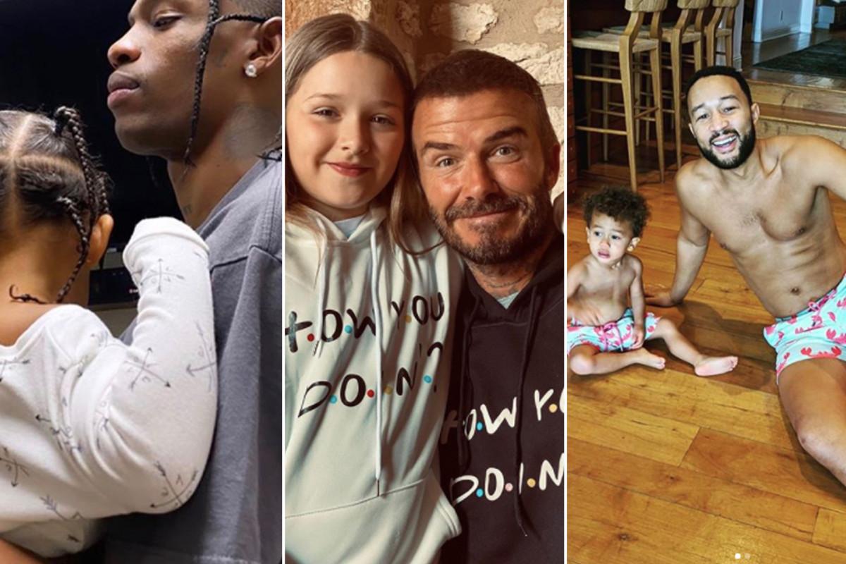 Pada Hari Ayah, selebriti ayah kembaran bersama anak-anak mereka