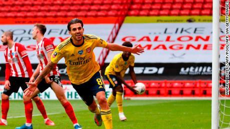 Dani Ceballos mencetak gol kemenangan Arsenal di perpanjangan waktu melawan Sheffield United.