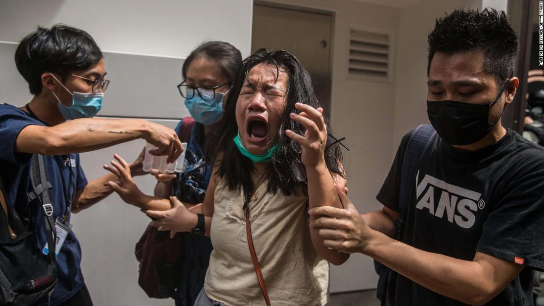 1 Juli protes di Hong Kong