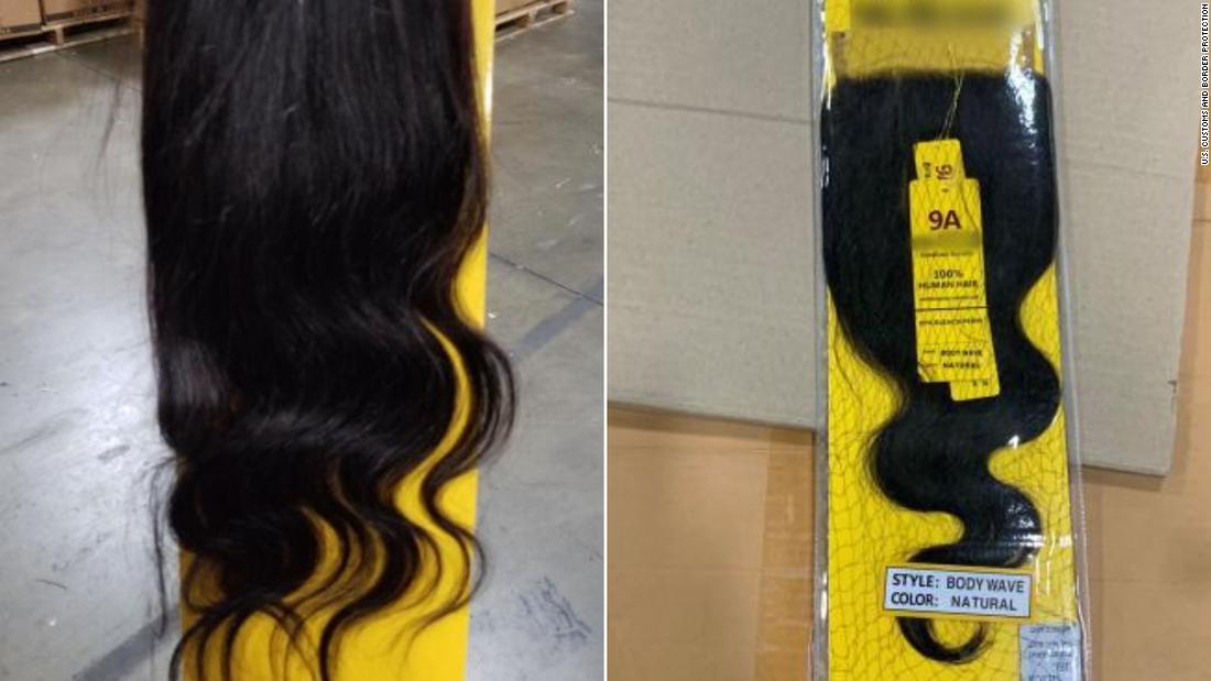 13 ton pengiriman rambut manusia, kemungkinan dari tahanan Tiongkok, disita