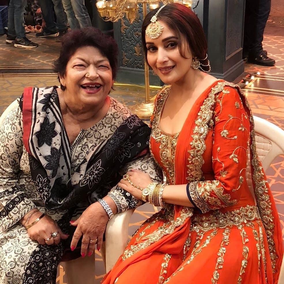 Saroj khan and Madhuri Dixit