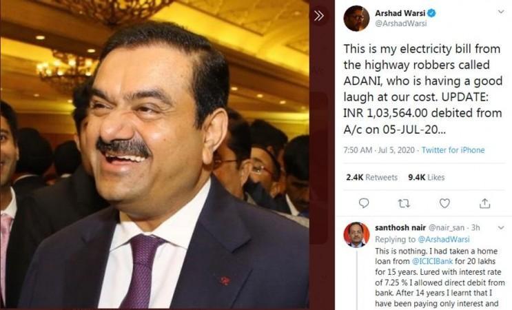 Tweet Arshad Warsi tentang Adani