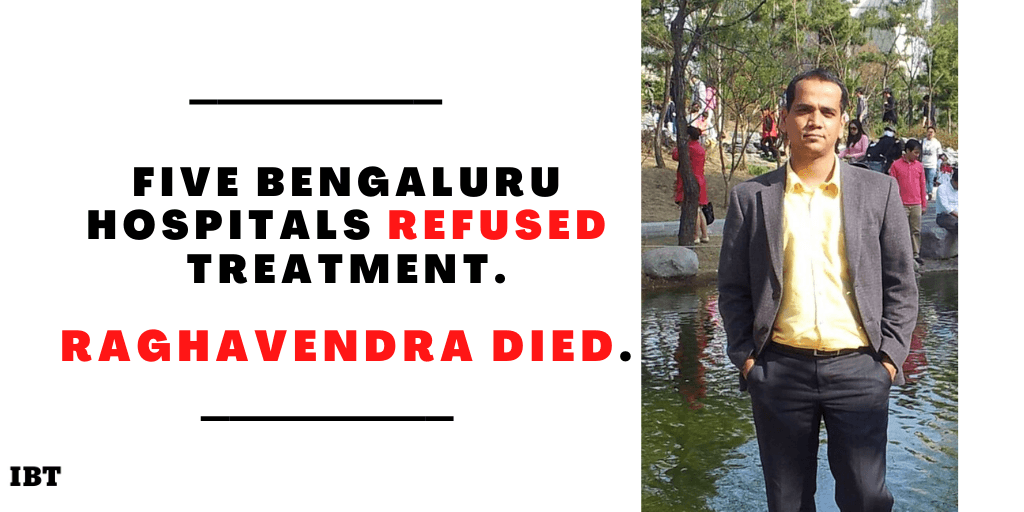 Bengaluru techie Raghavendra dies as hospitals refuse to admit the patient