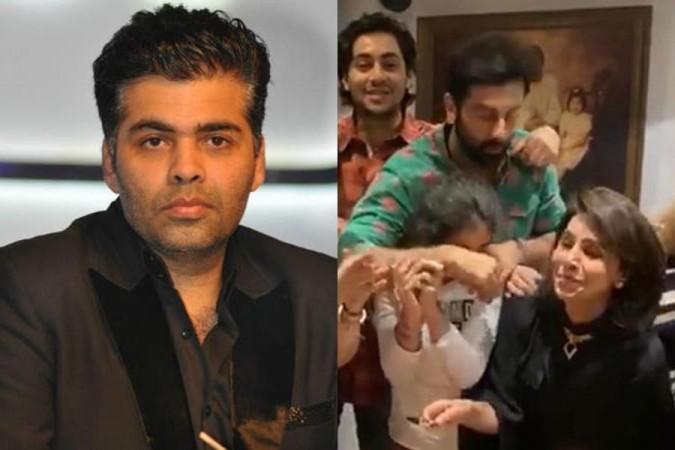 Karan Johar di Ulang Tahun Neetu Kapoor