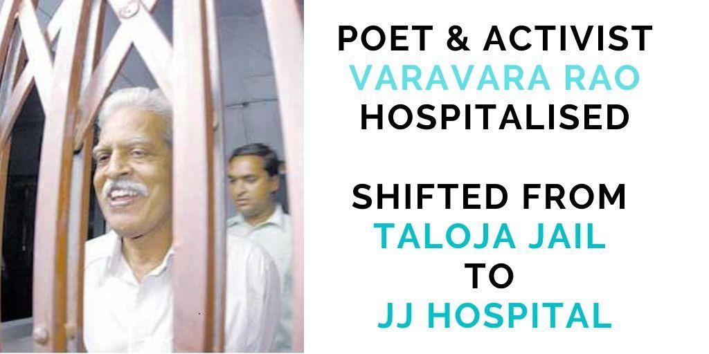 Varavara Rao in hospital
