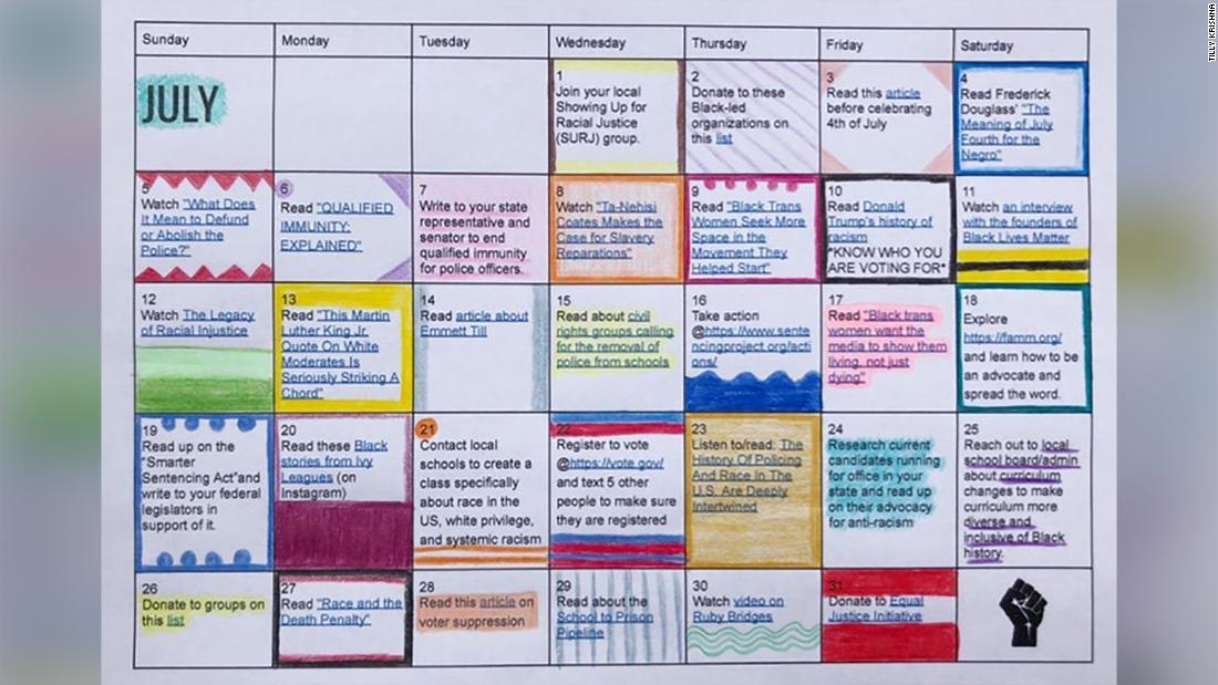 Remaja menciptakan kalender anti-rasisme - CNN