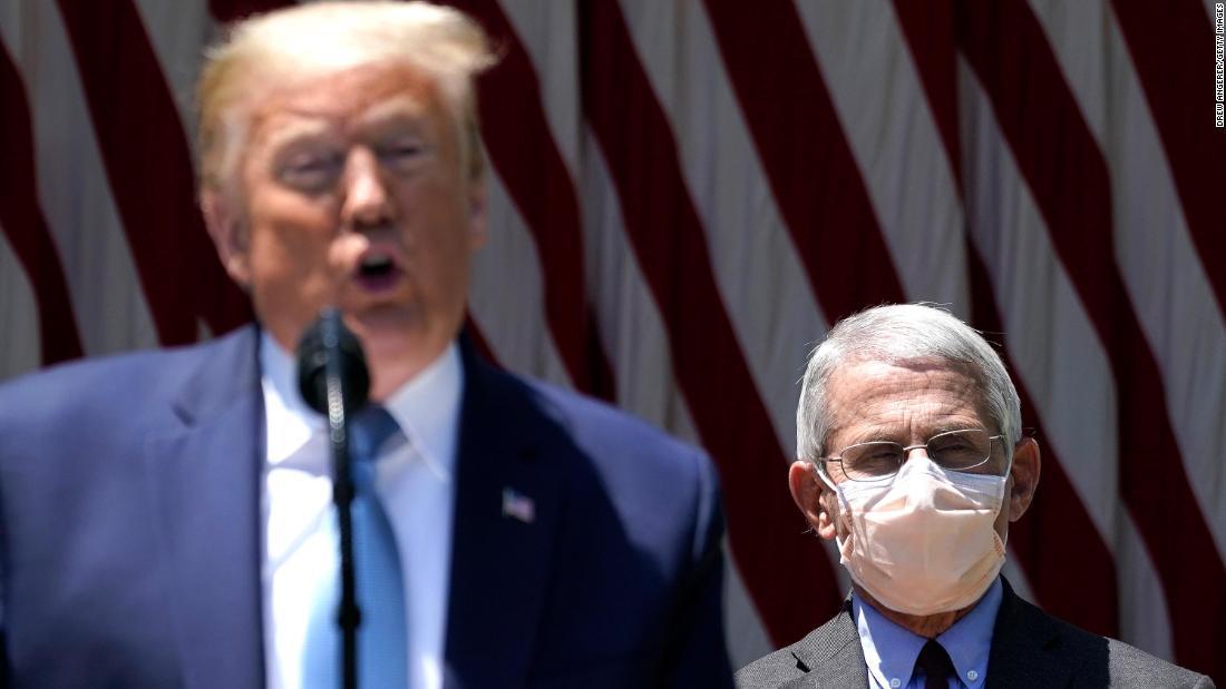 Trump menyebut Fauci 'sedikit khawatir' ketika kasus coronavirus meningkat
