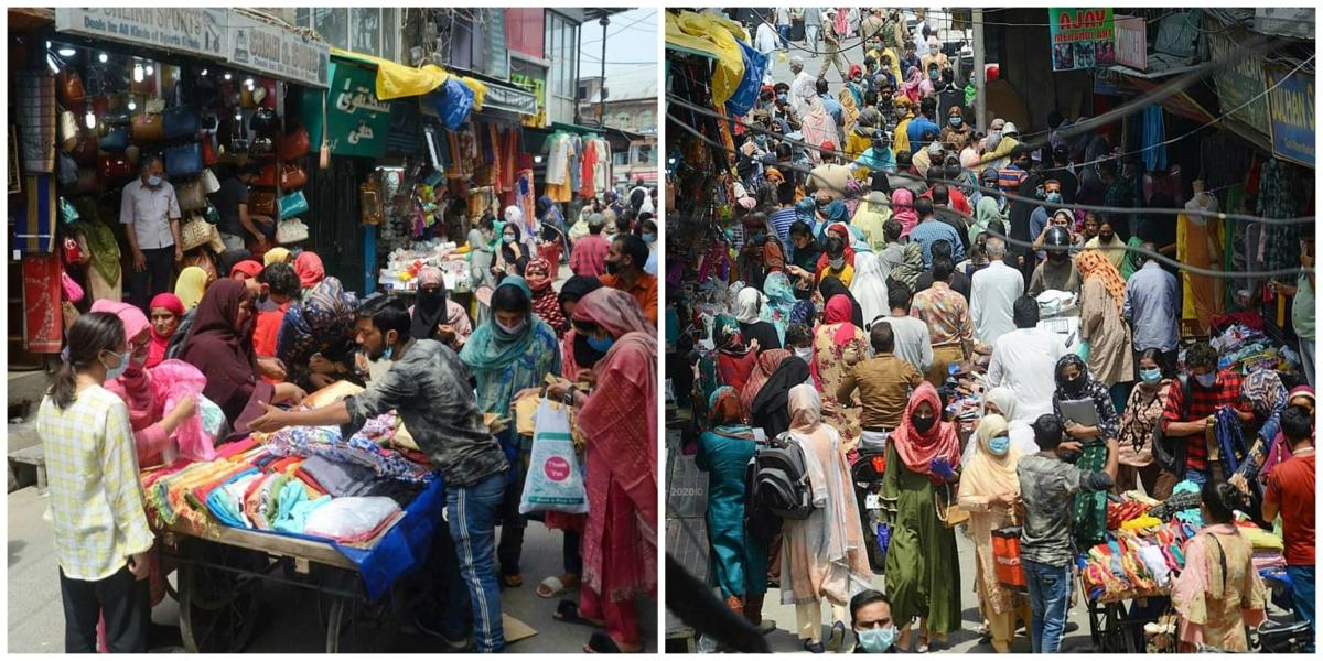 Kashmir is Cov-Eid shopping as if there