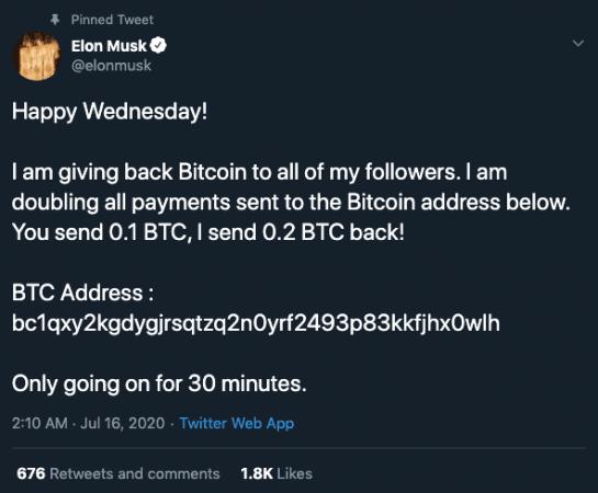 Akun Elon Musk diretas