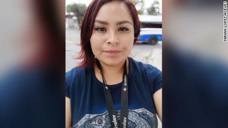 Mirian López Aceves mengandalkan remitansi dari ibunya yang bekerja di AS.