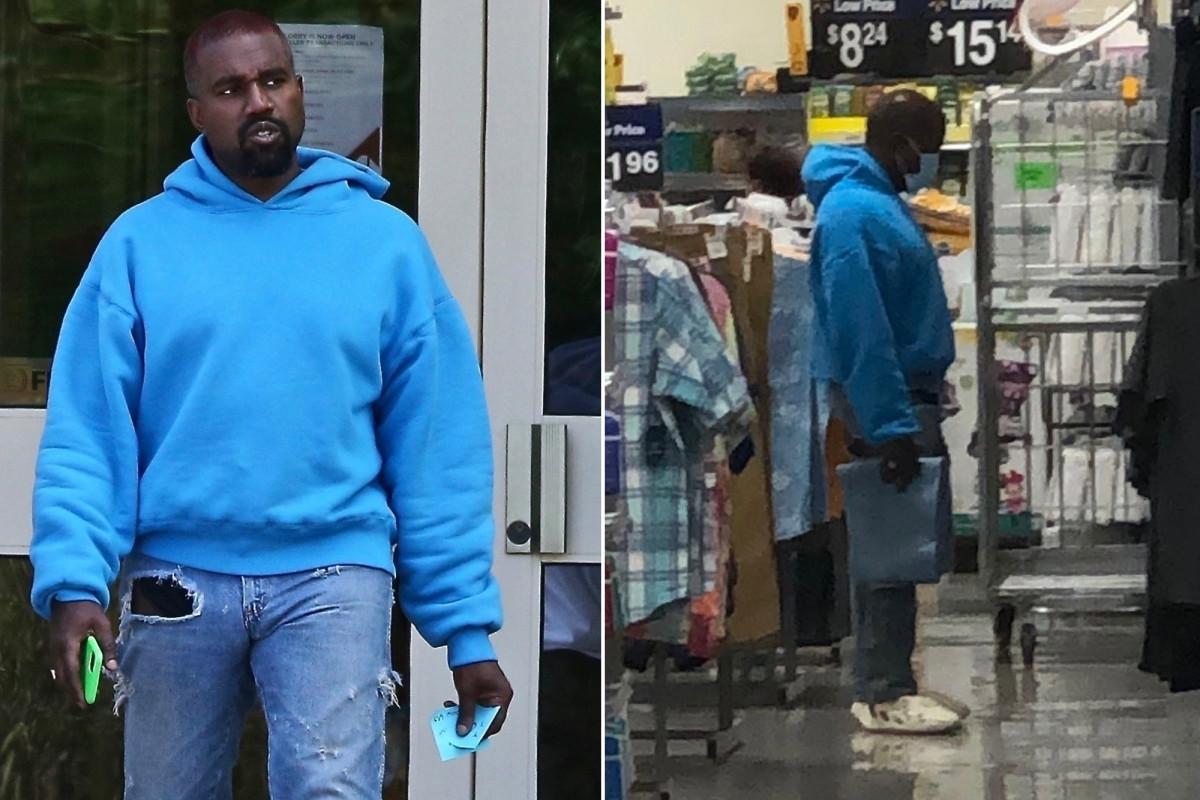 Kanye West berbelanja pakaian anak-anak di Wyoming Walmart