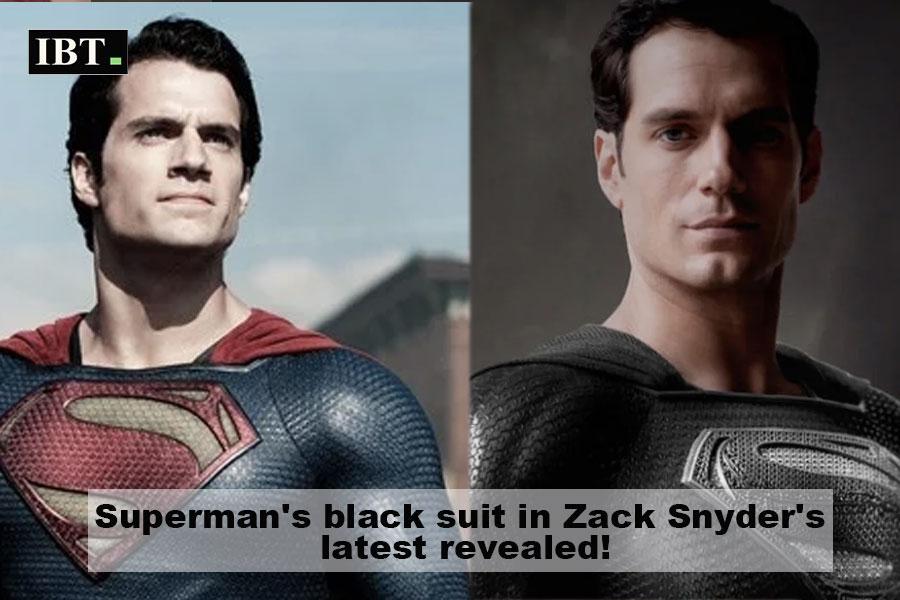 Superman in black suit