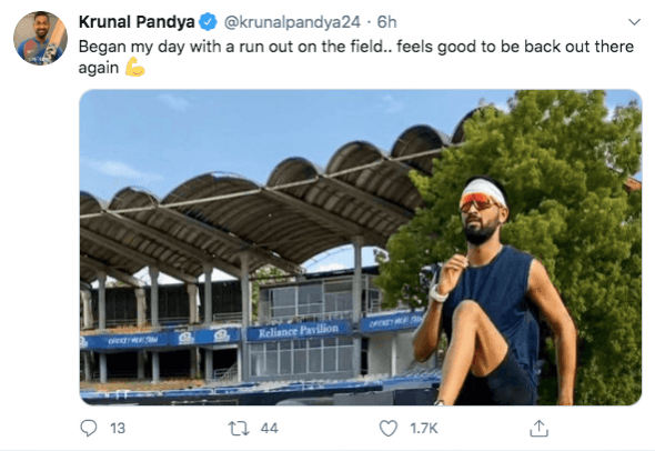 Krunal Pandya tweet