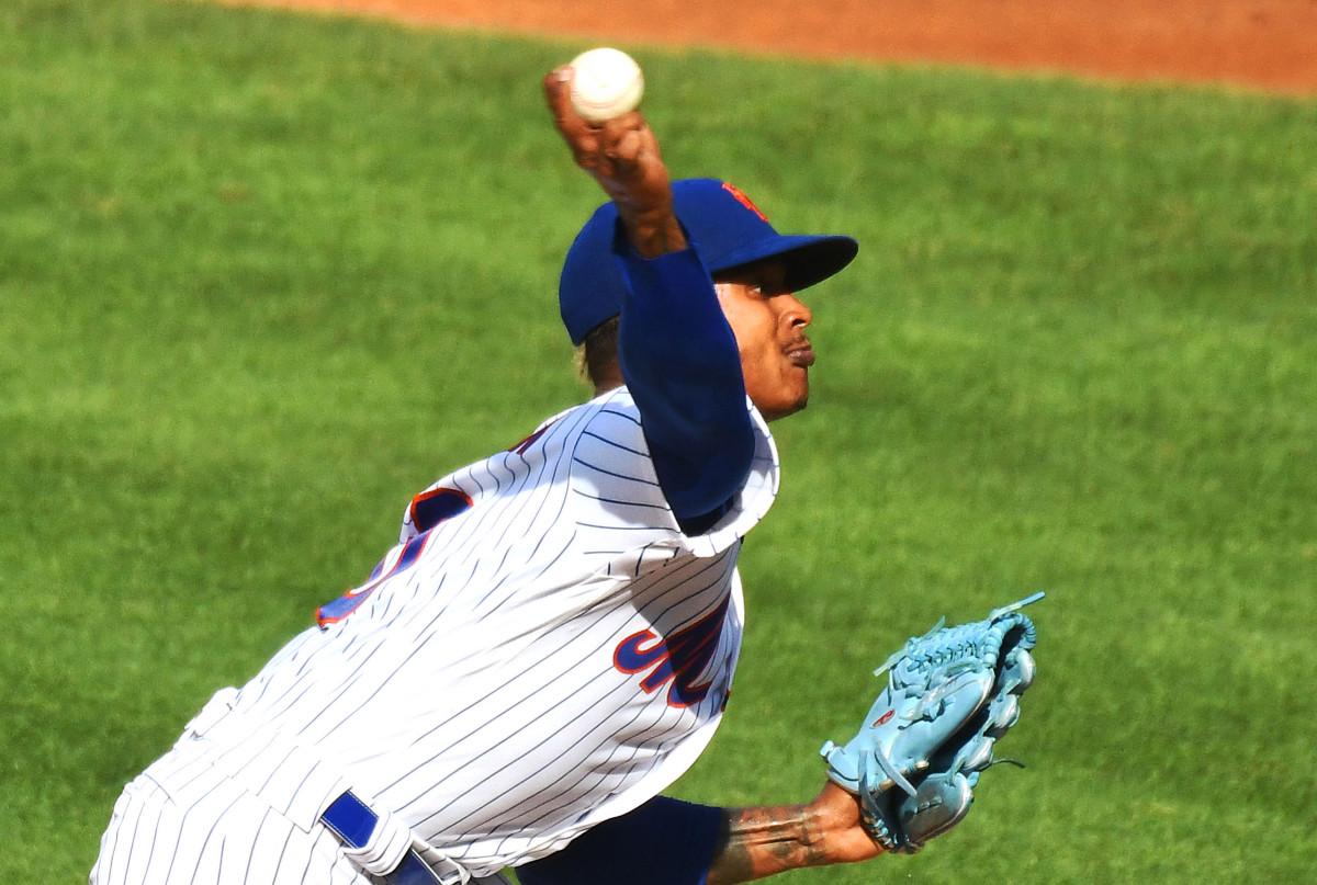 Mets 'Marcus Stroman bersiap menghadapi pemukul dalam tes rehabilitasi kunci
