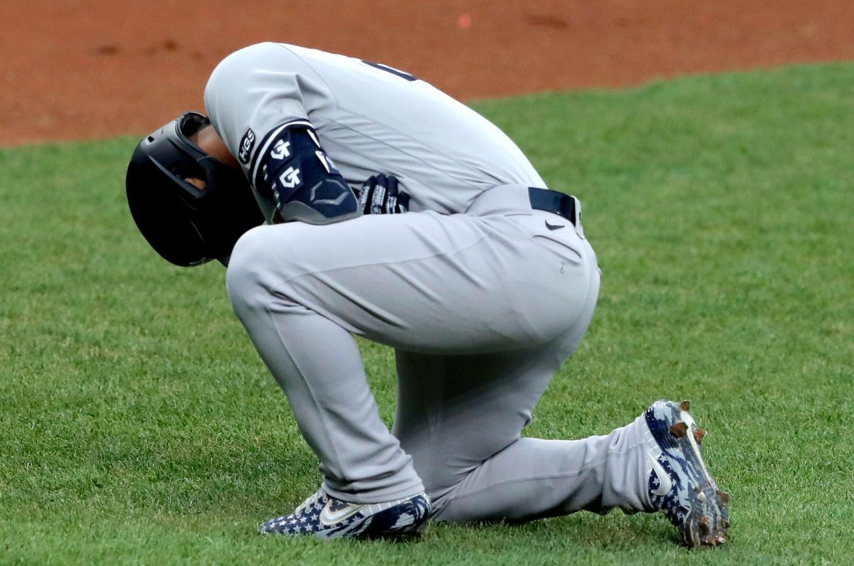 Yankees 'Gleyber Torres' hari ke hari 'setelah terkena pukulan siku