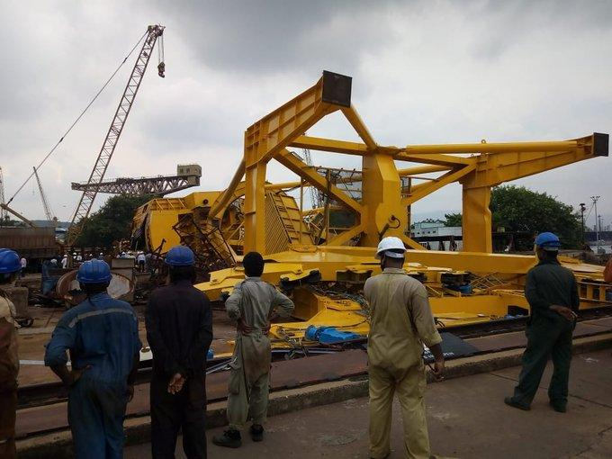 Vishakhapatnam horror: Massive crane collapse crushes 10 workers at Hindustan Shipyard
