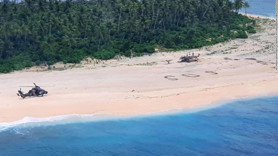 'SOS' di pasir menyelamatkan pelaut Mikronesia