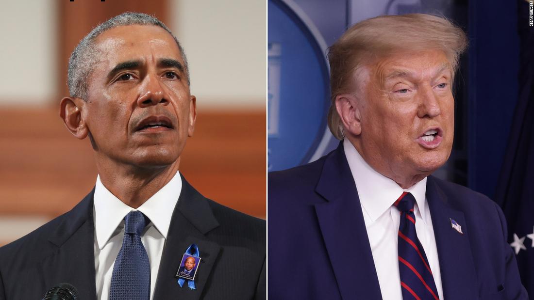 Trump merusak pidato Obama Lewis yang mendesak untuk hak pilih