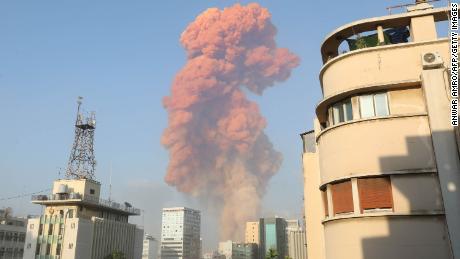 Adegan ledakan di Beirut pada 4 Agustus 2020.