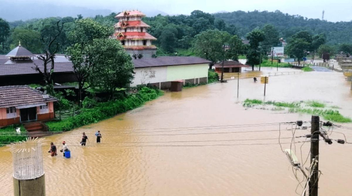 Bhagamandala flooded