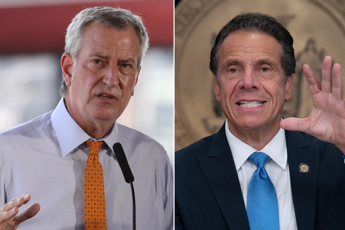 De Blasio menolak permintaan Cuomo untuk orang kaya agar kembali ke NYC