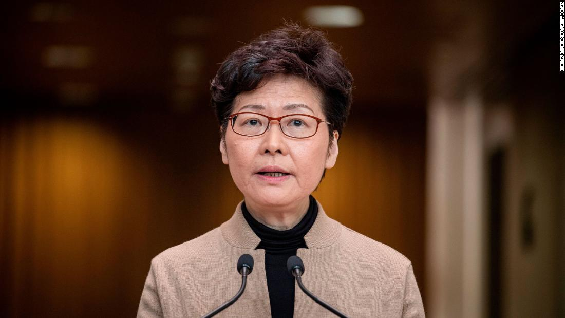 Carrie Lam: Sanksi AS CEO Hong Kong atas tindakan keras demokratis