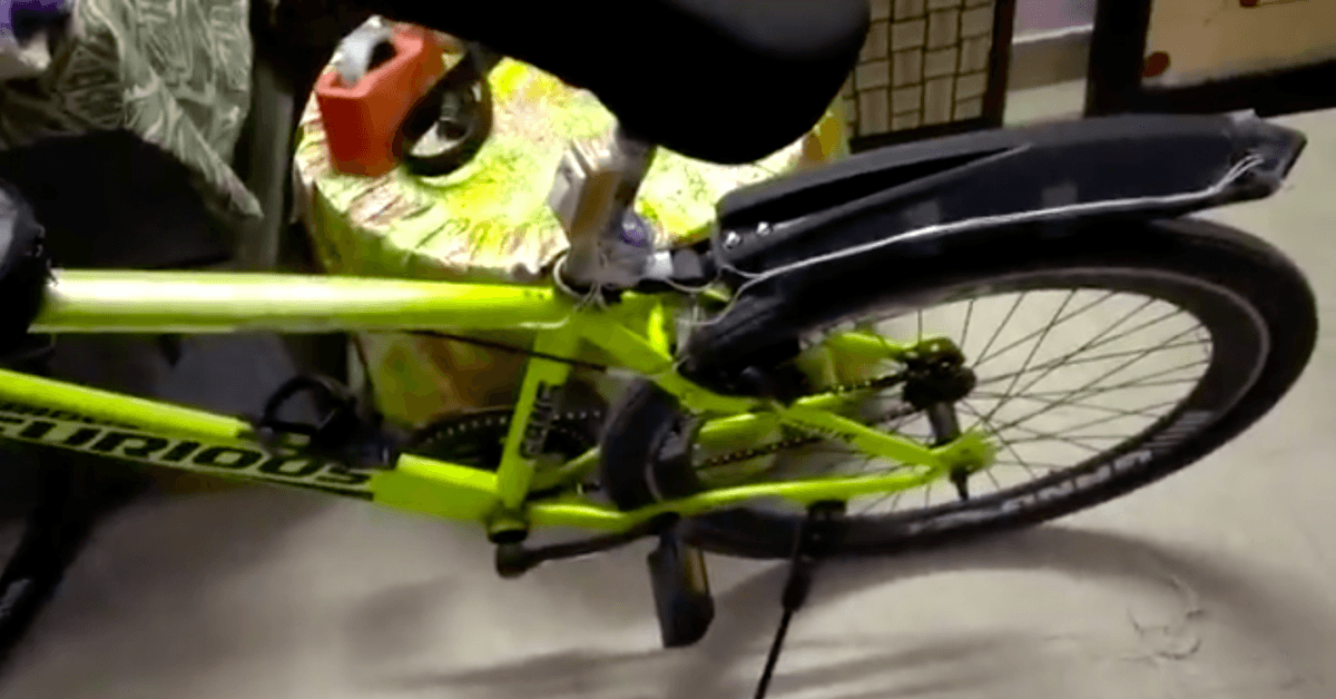 Class 12 boy innovates on rear brake lights for bicycle