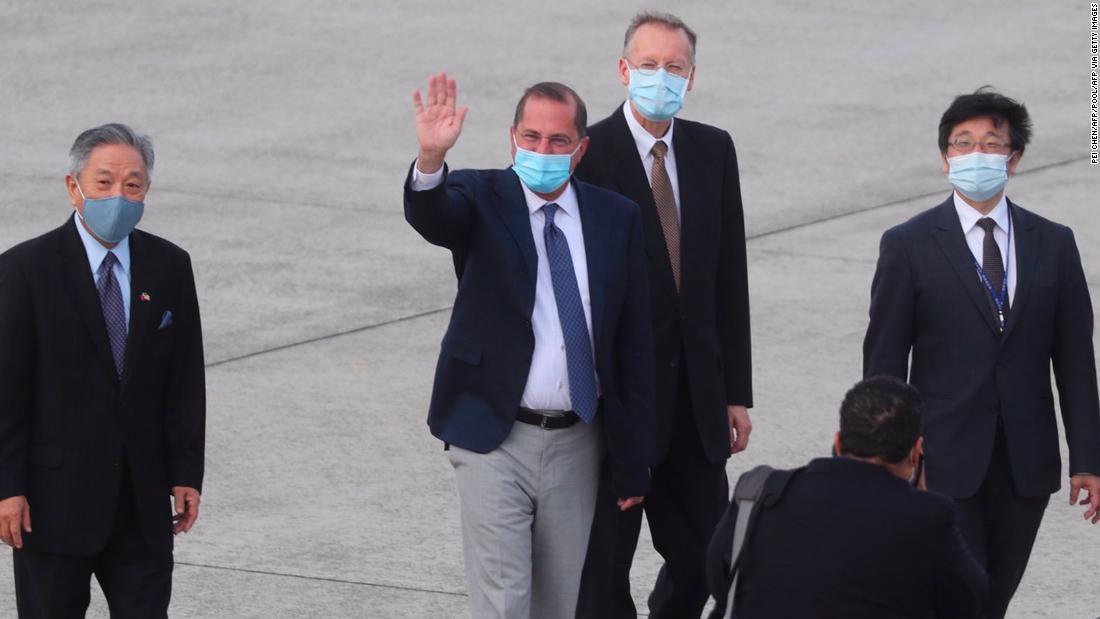 Pejabat tinggi kesehatan AS Alex Azar bertemu dengan Presiden Taiwan Tsai Ing-wen