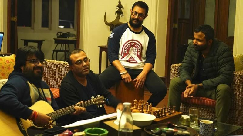 Aamir Khan dengan musisi Laal Singh Chaddha