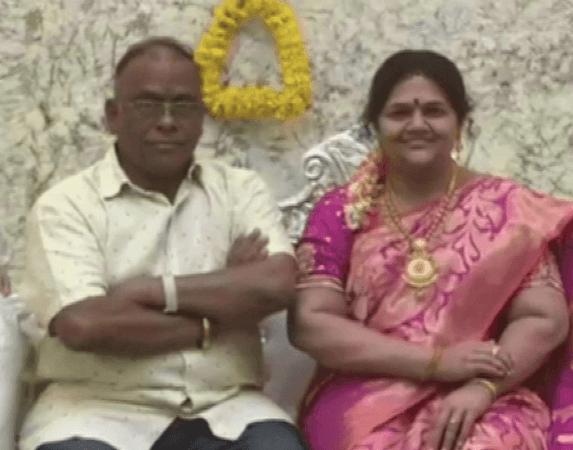 Patung silikon istri Srinivas Murthy