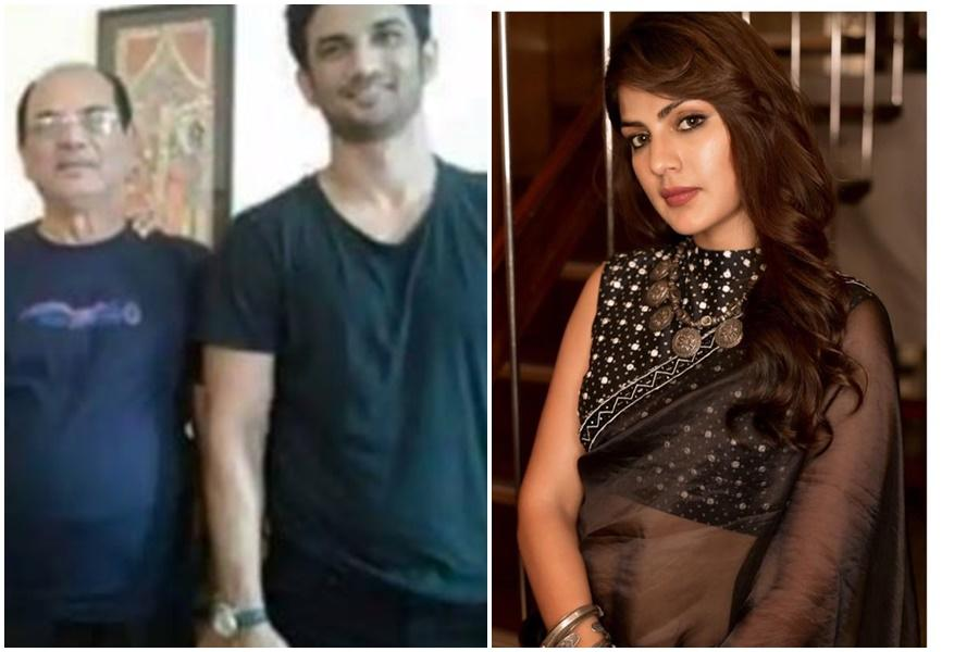 Sushant Singh Rajput with his father and Rhea Chakraborty