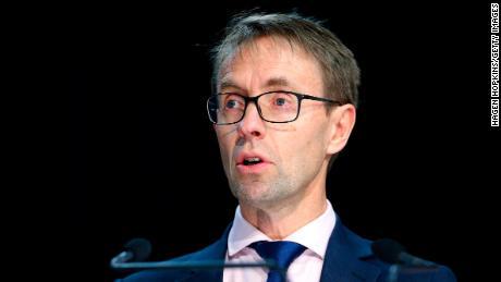 Direktur Jenderal Kesehatan Dr. Ashley Bloomfield berbicara kepada media selama konferensi pers di Parlemen pada 14 Agustus 2020 di Wellington, Selandia Baru.