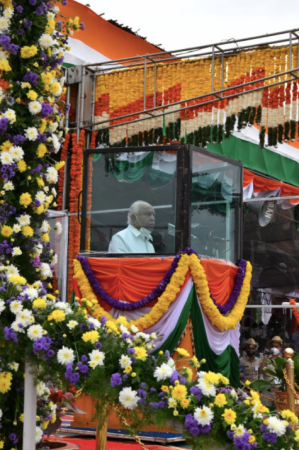Karnataka CM pada perayaan hari kemerdekaan