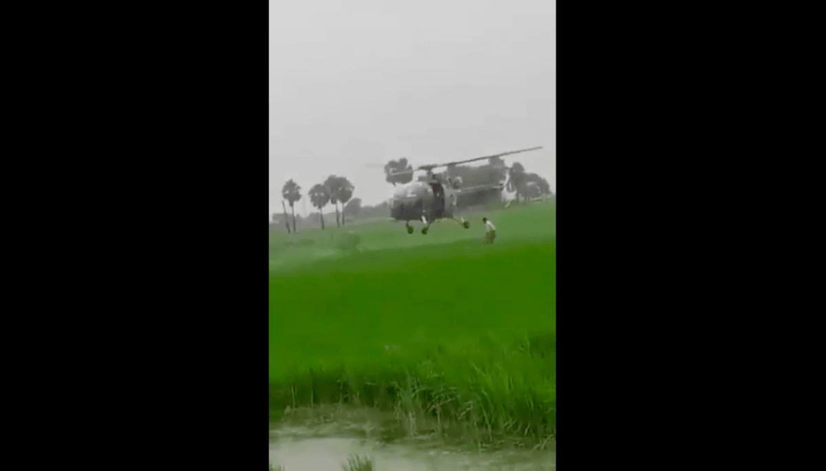 Telangana choppers rescue stranded farmers