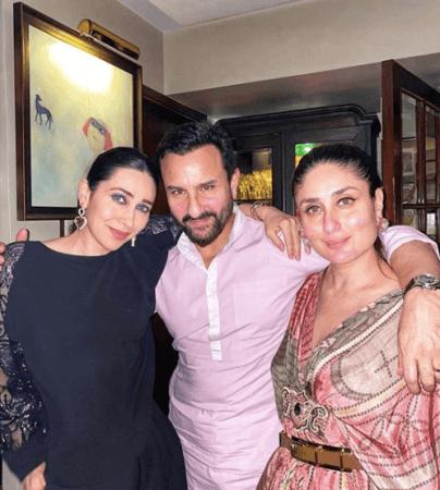Karisma Kapoor, Saif Ali Khan dan Kareena Kapoor Khan