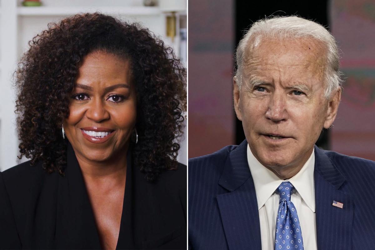 Michelle Obama menyebut Biden 'sangat keturunan' dalam pidato konvensi