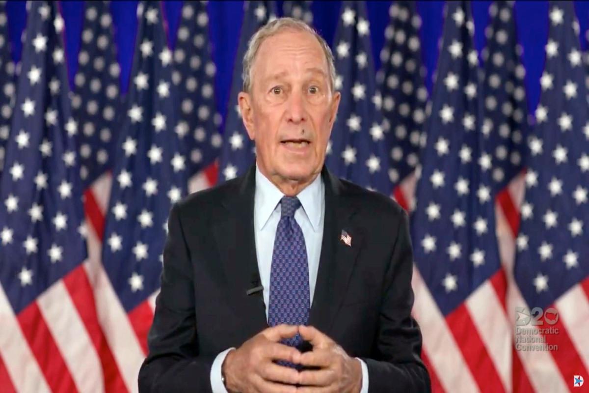 Terbang mendarat di wajah Michael Bloomberg selama pidato DNC