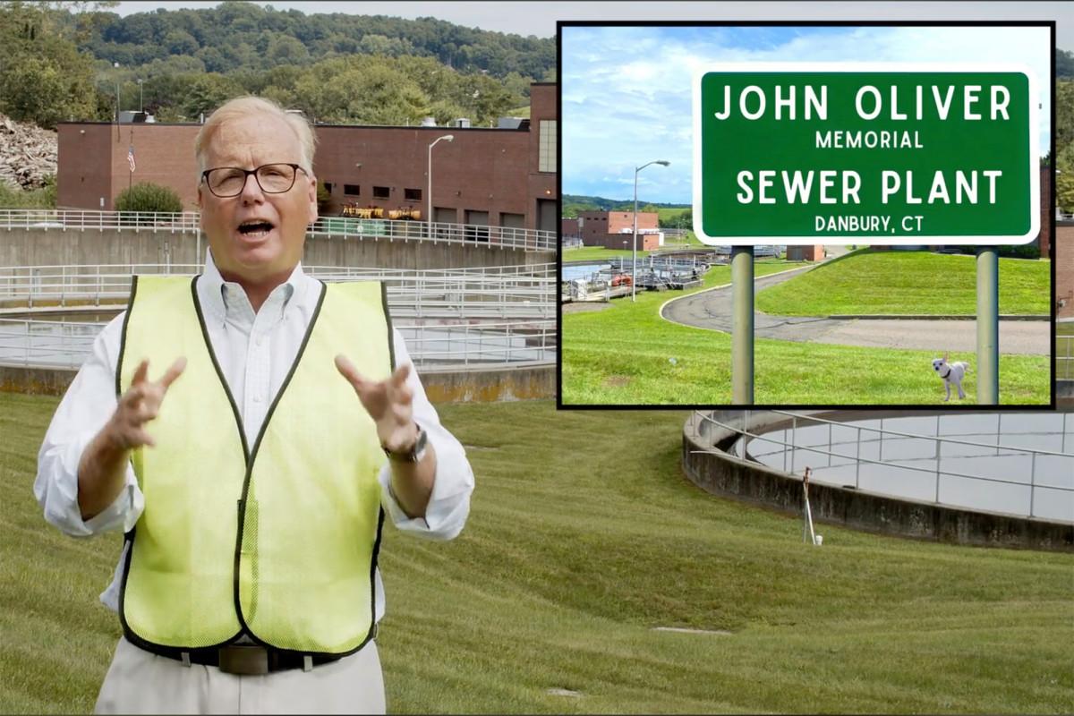 Danbury, Connecticut menamai pabrik limbah setelah John Oliver
