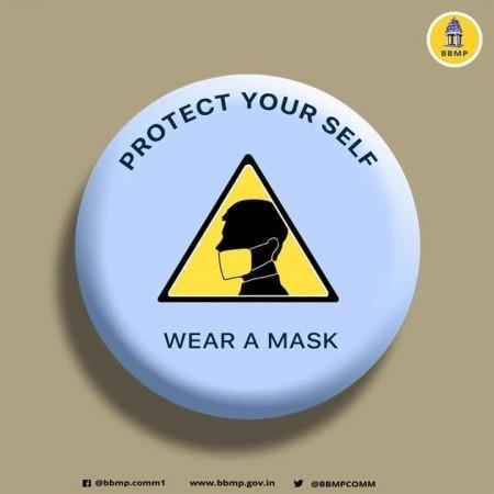 BBMP memakai masker