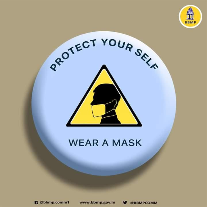 BBMP on wearing masks