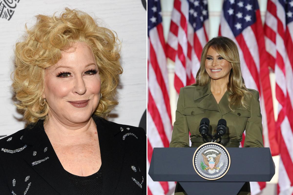 Bette Midler menyebut Melania Trump sebagai 'alien ilegal' di tweetstorm RNC 2020