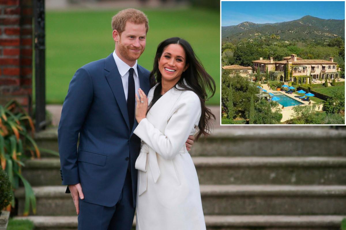 Di dalam tanah California baru Pangeran Harry dan Meghan Markle