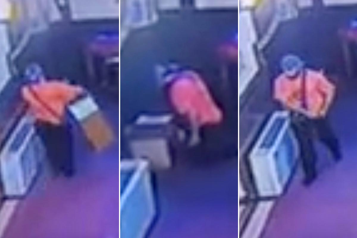 Man mencuri uang kotak koleksi dari gereja Park Slope: video